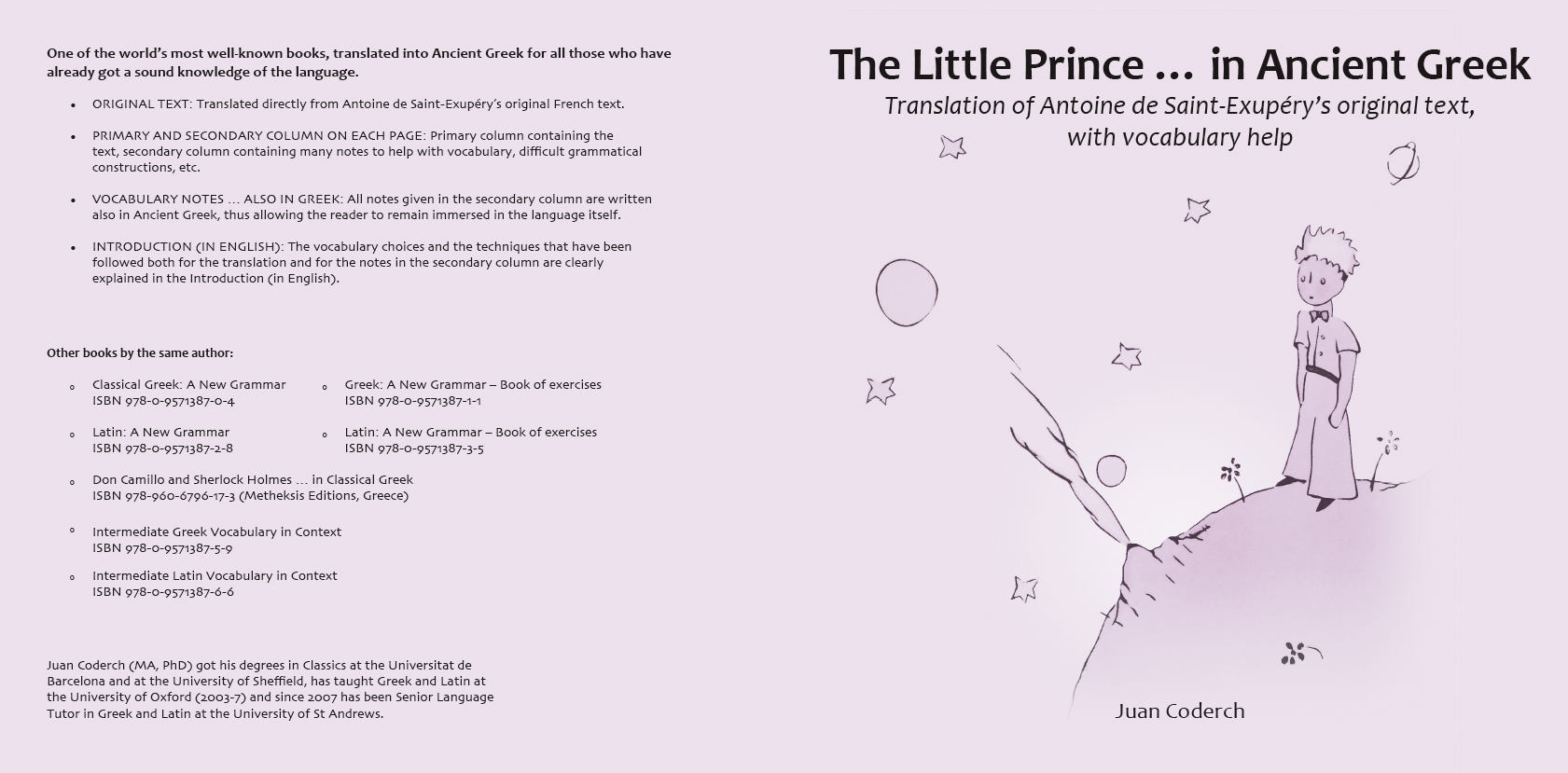 The Little Prince In Ancient Greek Classical Greek A New Grammar Latin A New Grammar